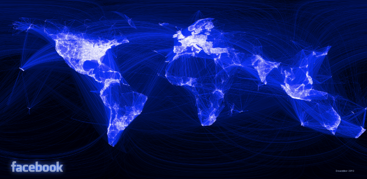 Visualization of Facebook Connections Around the Globe