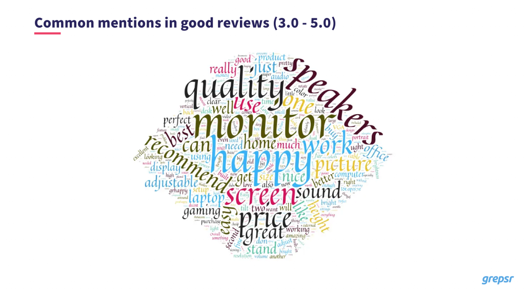 Word cloud - good reviews
