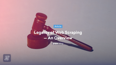 Web scraping legality