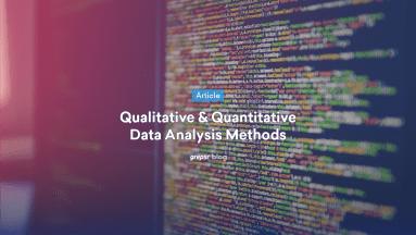 Qualitative & Quantitative Data Analysis Methods